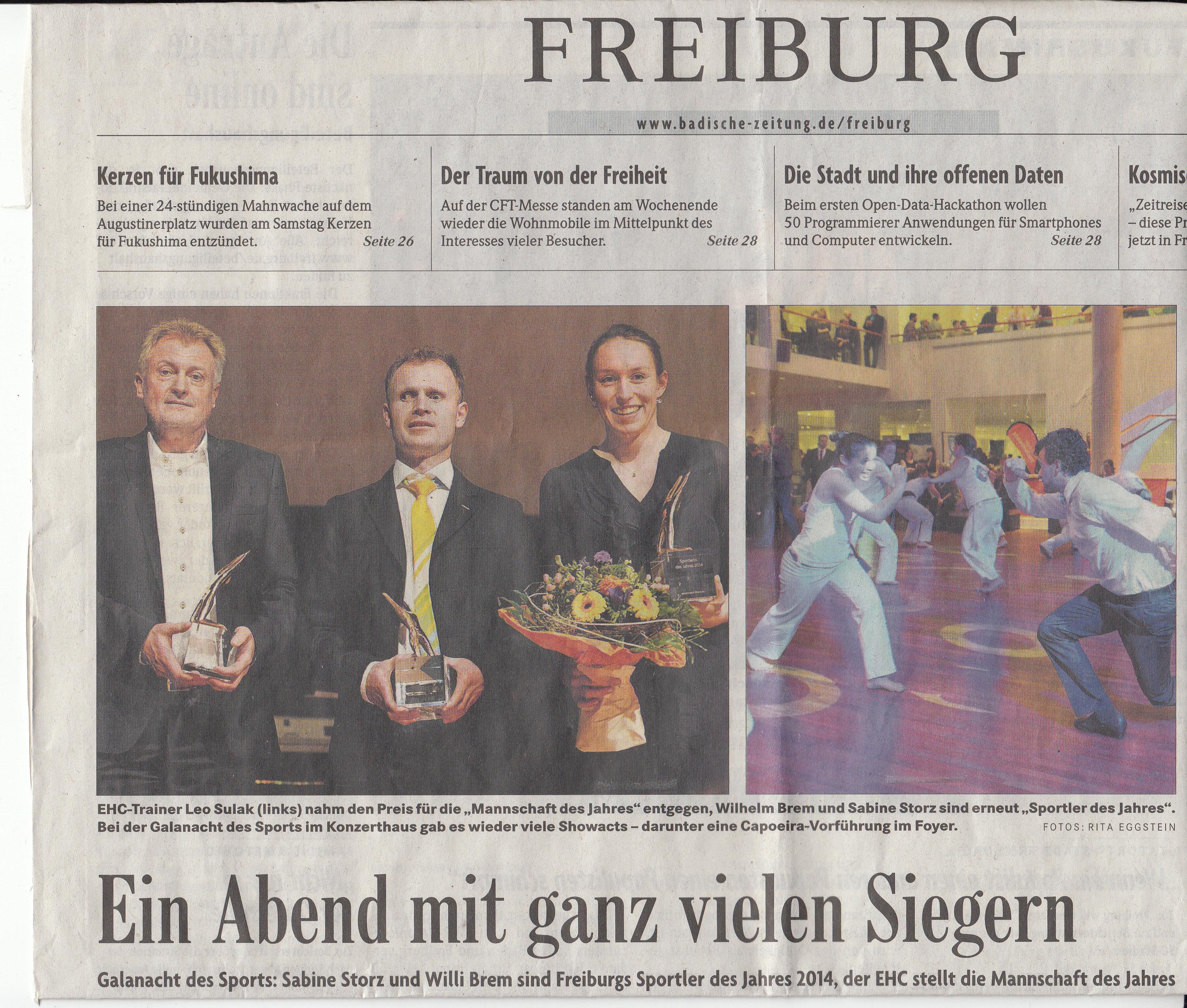 Galanacht des Sports Konzerthaus Freiburg 2015
